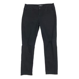 Lucky Brand   Lolita Skinny Jeans Black Ripped 14
